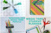 4 gemakkelijk terug naar School DIY van met Washi Tape