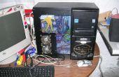 Zombie PC case mod, terug van de dode PC met ruimtebesparende kant gekoppelde stations.
