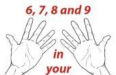 Tablas de multiplicación de 6, 7, 8 y 9 nl las manos