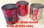 Terugvorderen van schroot - dranken blikjes Recycling