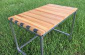 Zwaluwstaart Desk (staal in hout)
