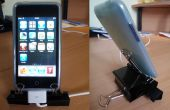 IPhone / iPod Touch binder clip stand met kabel bepaling UPDATED