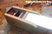 Kleine schuifregelaar deksel vak met planken