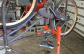 Draagbare fiets reparatie/onderhoud staan