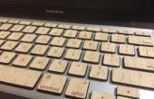 Houten Macbook toetsen (met achtergrondverlichting functionaliteit)