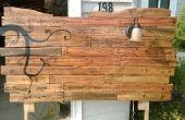 Hoofdeinde van houten Pallets