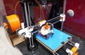 Gebouw prusa i3 3D-printer met directe extruder