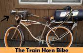 Erg luid trein hoorn fiets