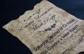 Vintage oude papieren bruiloft uitnodiging - Project Geek #4