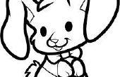 Hoe teken je een konijn eter
