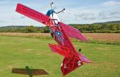 3D vliegen met een vliegtuig van model
