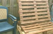 Omzetten van oude Pallets in een tuin Bench
