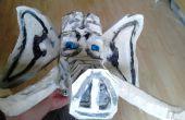 Hoe maak je een groot formaat marionet hoofd van PU-schuim blok afval