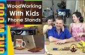Houtbewerkingsprojecten voor kinderen | Maken van een telefoon of Tablet Stand van Mulga hout