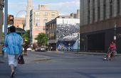 S.Alt stad: QR Code interactieve muurschildering