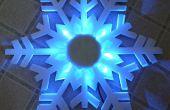LED Snowflake decoratie uit goedkope effect licht