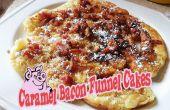Karamel Bacon trechter gebak