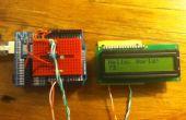ATTiny45/85 LCD Weergave besturingselement met een shift register, geprogrammeerd in Arduino