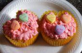 Valentijn hart vorm Cupcake met A Kiss