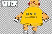 2D Cartoon-Animatie van de Instructable Robot