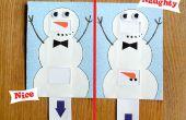 Naughty or Nice Snowman kaart