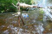 Waterrad van Plastic flessen