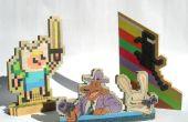 Kleinschalige houten pixelart (v2)