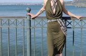 Cowl gedrapeerd Infinity jurk