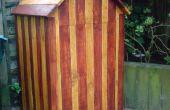 Strand hut compost bin van gerecyclede pallets