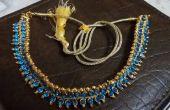 Kundan - 2$ blauwe parel ketting!