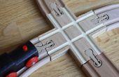 Aangepaste houten trein spoor X-kruising