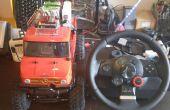 No.03 Steering Wheel Drive R/C auto met Arduino, Webcam en net. USB enz. Maar dit is Crawler en 4WS (4 wiel besturing)
