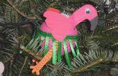 Flamingo Christmas Ornament