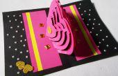 DIY 3D Kirigami kaart maken van ideeën: Hoe maak je hart Pop-Up liefde kaart