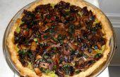 Paddestoel spinazie Ricotta taart