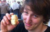 Realistische chocolade hoofden van 3D-Prints
