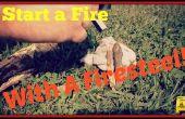 Starten van een brand met een firesteel