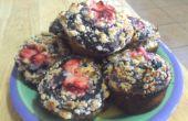 Blueberry Muffins met Streusel Topping: A bakken poging