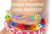 Enkele rainbow loom armband