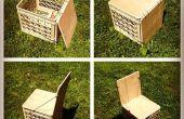 Krat stoel van melk voor kamperen of Vinyl opslag Upgrade