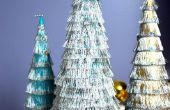 Fringe kerstbomen zijn leuk en makkelijk te maken