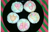 Fondant Cupcakes quilled