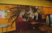 Coffee Shop Airbrush muurschilderingen (time-lapse video)