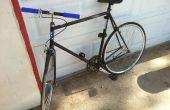 Een nieuwe verf baan toe te passen op de fiets