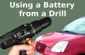 Jump-Start uw auto met boor de batterij
