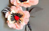 Grillige papier Poppy bloem