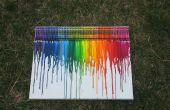 Kleurpotlood smelten Art