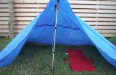 Trekking pool Blue tarp tent
