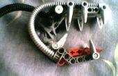 Step by step bionicle dragon head