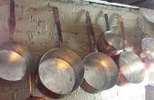 DIY Hand veegde Tinning van oude koperen potten/pannen - stap voor stap instructies